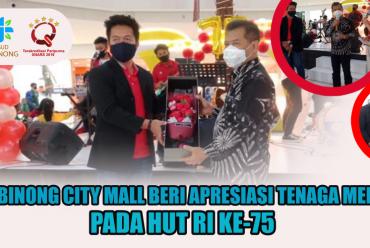 Cibinong City Mall Beri Apresiasi Tenaga Medis pada HUT RI ke-75
