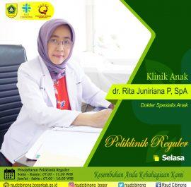 Klinik Anak – dr. Rita Juniriana P, SpA