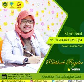 Klinik Anak – dr. Tri Yuliani Putri, SpA