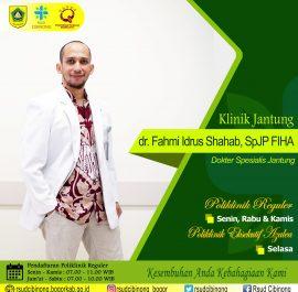 KLINIK JANTUNG – dr. Fahmi Idrus S, Sp.JP, FIHA