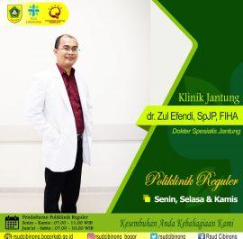 KLINIK JANTUNG – dr. Zul Efendi, Sp.JP-K, FIHA