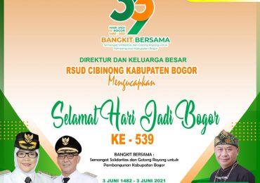 "SELAMAT HARI JADI BOGOR KE-539 : ""bangkit bersama"" – rsud cibinong"