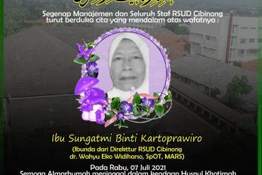 berita duka : ibu sungatmi binti kartoprawiro (ibunda dr. wahyu eko widiharso, sp.ot, mars – DIREKTUR RSUD CIBINONG)